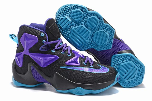 Nike Lebron James 13 Shoes Black Purple Blue